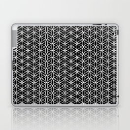 Flower of life pattern on black Laptop & iPad Skin