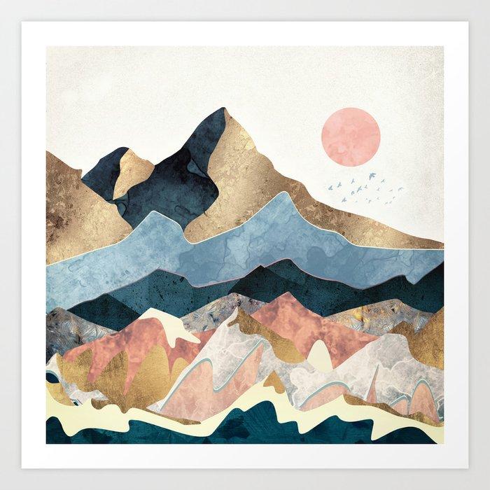 Golden Peaks Kunstdrucke