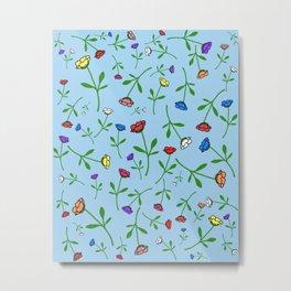 Colorful Flower Toss Metal Print