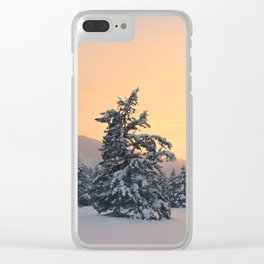 Fire and Ice Clear iPhone Case