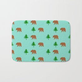 bear pattern home decor Bath Mat