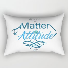 Attitude -Lettering Rectangular Pillow