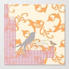 Upon the Nearest Breeze - Peach Canvas Print