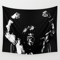 warrior Wall Tapestries featuring Warrior!!! by Adam Doyle