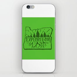 Exploregon (greens) iPhone Skin