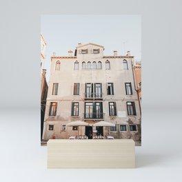 Pastel Pink Venice Building Front   Italy Travel Photography, Iconic travel Saige Ashton Prints Mini Art Print