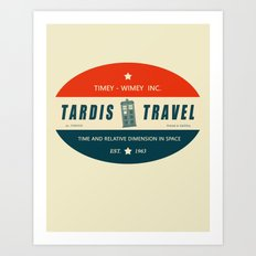 Tardis Travel - Fantasy Travel Logo Art Print