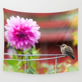 Meal Planning For Hummingbirds Wall Tapestry