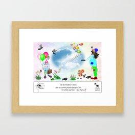 The Butterfly's Song Framed Art Print