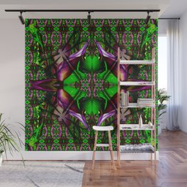 Green frog and dragonfly Wall Mural
