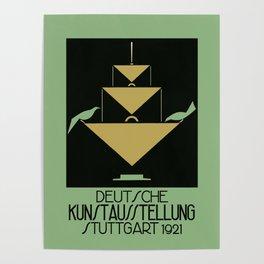 Stuttgart art expo: feed the birds Poster