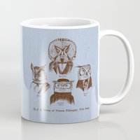 philosophy Mugs featuring A History of Western Philosophy. With Owls. by Jon Turner