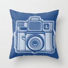 I Still Shoot Film Holga Logo - Reversed Blue Throw Pillow