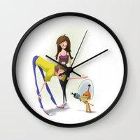 invader zim Wall Clocks featuring Invader by David Pavon