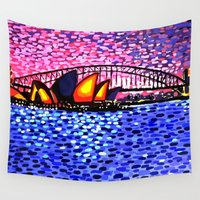 sydney Wall Tapestries featuring Sydney Harbour by Alan Hogan