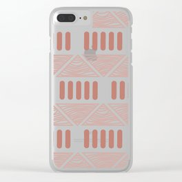 Andi Terracotta Clear iPhone Case