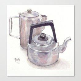 Kettles, watercolour Canvas Print