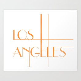 Los Angeles Deco Print Art Print