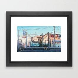 Evening street Framed Art Print