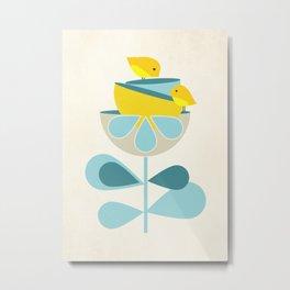 Birdies #society6 #buyart #decor Metal Print