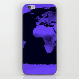 Periwinkle World Map iPhone Skin