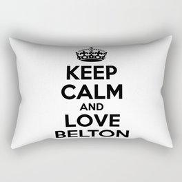 Keep calm and love BELTON Rectangular Pillow