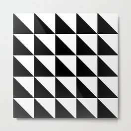 Geometric Pattern 01 Black Metal Print