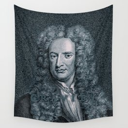 Gravity / Vintage portrait of Sir Isaac Newton Wall Tapestry