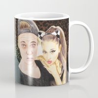 ariana grande Mugs featuring Ariana and Justin by Share_Shop