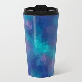 Blue-pink abstract polygonal background Travel Mug