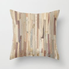 Wood Planks Throw Pillow