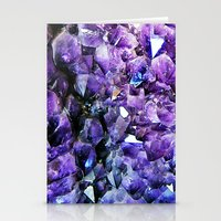geode Stationery Cards featuring Amethyst Geode by The Wellington Boot