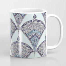 Deco Doodle in Aqua, Cream & Navy Blue Coffee Mug