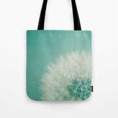 Aqua Dandelion  Tote Bag