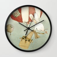 balloon Wall Clocks featuring Balloon by Judith Loske