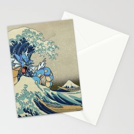 The Great Wave Off Gyarados Stationery Cards