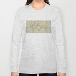 Vintage Map of The World (1911) 2 Long Sleeve T-shirt