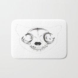 Skull Cat Bath Mat