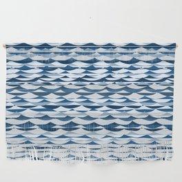 Glitch Waves - Classic Blue Wall Hanging