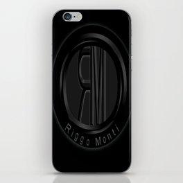 Riggo Monti Design #1 - Riggo Emblem (Blk. Bkgrnd.) iPhone Skin