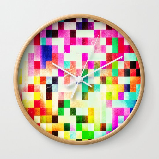 GROWN UP PIXELS Wall Clock