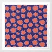 Grape / Orange Pollen Art Print