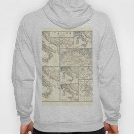 Vintage Map - Spruner-Menke Handatlas (1880) - 28 Italy 1798 - 1870 Hoody