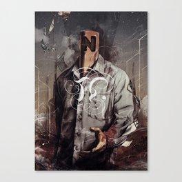Negative Poles Canvas Print