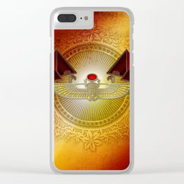 Egyptian sign, the scarab Clear iPhone Case