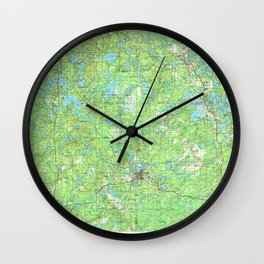 WI Rhinelander 803113 1989 topographic map Wall Clock