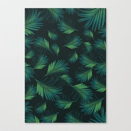 Tropical Night Palms Pattern #1 #tropical #decor #art #society6 Canvas Print