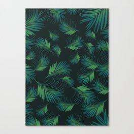 Tropical Night Palms Pattern #1 #tropical #decor #art #society6 Canvas Print