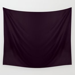 Simply Deep Eggplant Purple Wall Tapestry