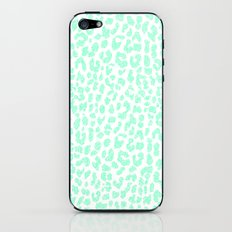 Pale Mint Leopard iPhone & iPod Skin